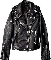 Floral Vegan Leather Moto Jacket (Big Kids)