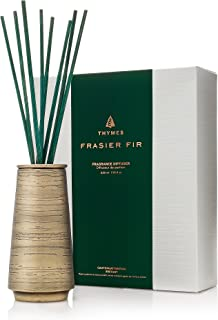Thymes Frasier Fir Joyeux Collection Reed Diffuser, Metal