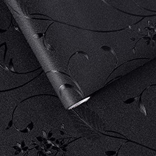 VELIMAX Static Cling Blackout Window Film Removable Room Darkening Decor Black Window Tint for Day Sleep Blackout Window Cover Loquat Leaves (17.7
