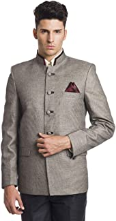 WINTAGE Men's Linen Blended Bandhgala Festive Nehru Mandarin Blazer -Two Colors