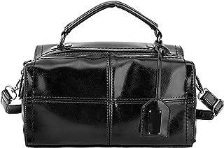 Luxspire Women Elegant Handbag PU Leather Cross body Lady Shoulder Bag, Black