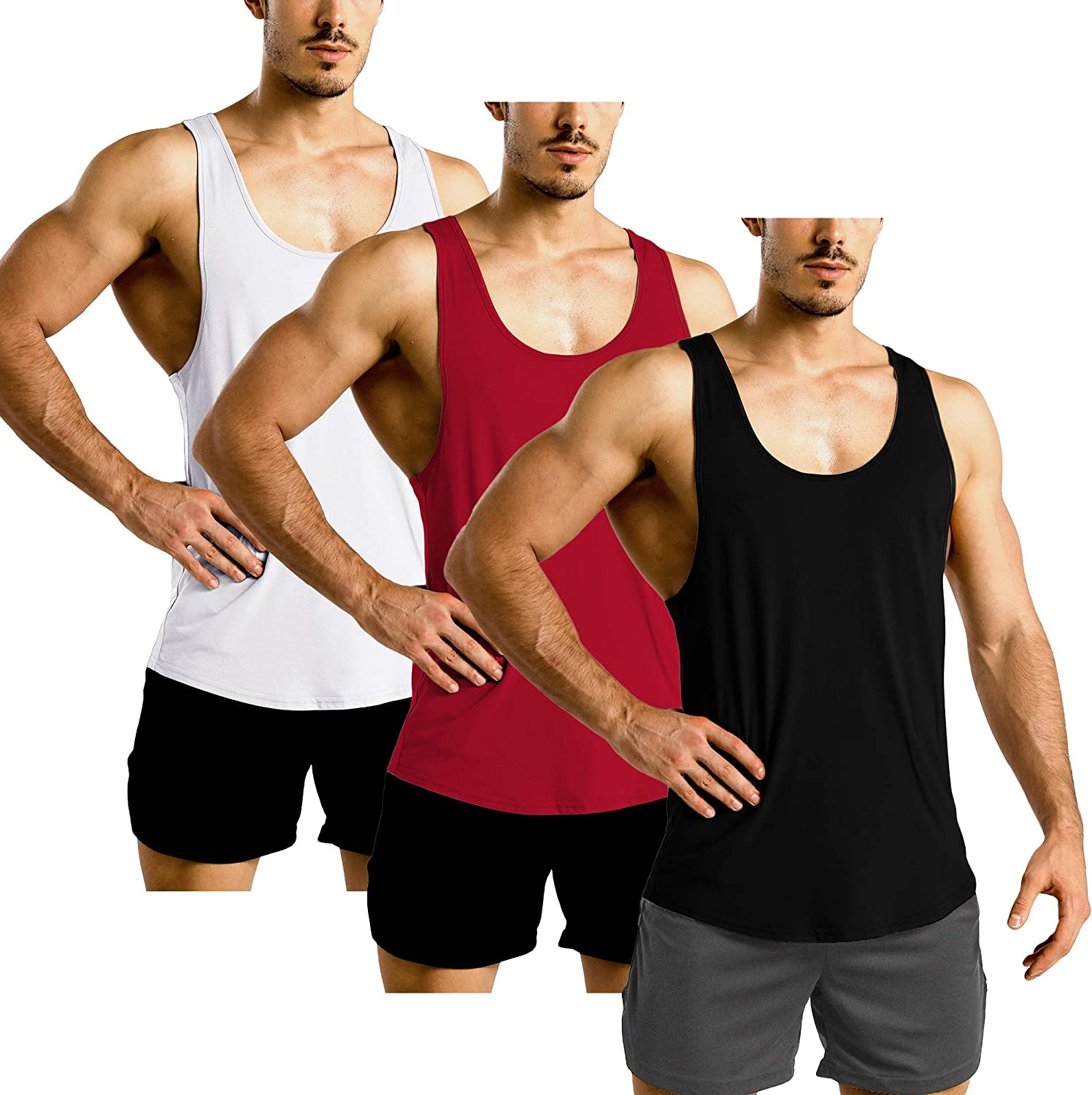 GYM REVOLUTION Men's Muscle Gym Top Workout Max 50% OFF National uniform free shipping Bodybui Tank Fitness