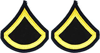 Army Dress Blue ASU PFC Private First Class Sew On Rank Small - Pair