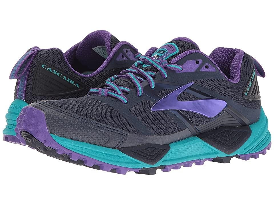 Brooks Cascadia 12 (Peacoat/Passion Flower/Bluebird) Women