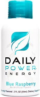 DailyPower Energy Shot - 220mg of Natural Caffeine - 12 Count (Blue Raspberry)