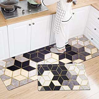 Jcickt, Kitchen Fatigue mat and Kitchen mat, Maze,Kitchen Rugs, Waterproof and Non-Slip, Suitable for Long-Term Standing, ...
