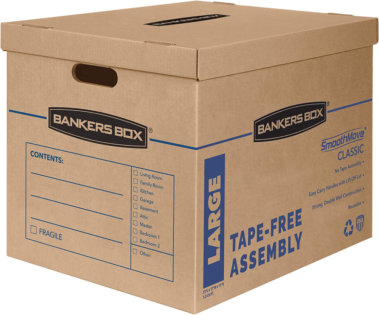 Bankers Box SmoothMove Classic Fort Worth Mall Max 89% OFF Assembly Tape-Free Boxes Moving