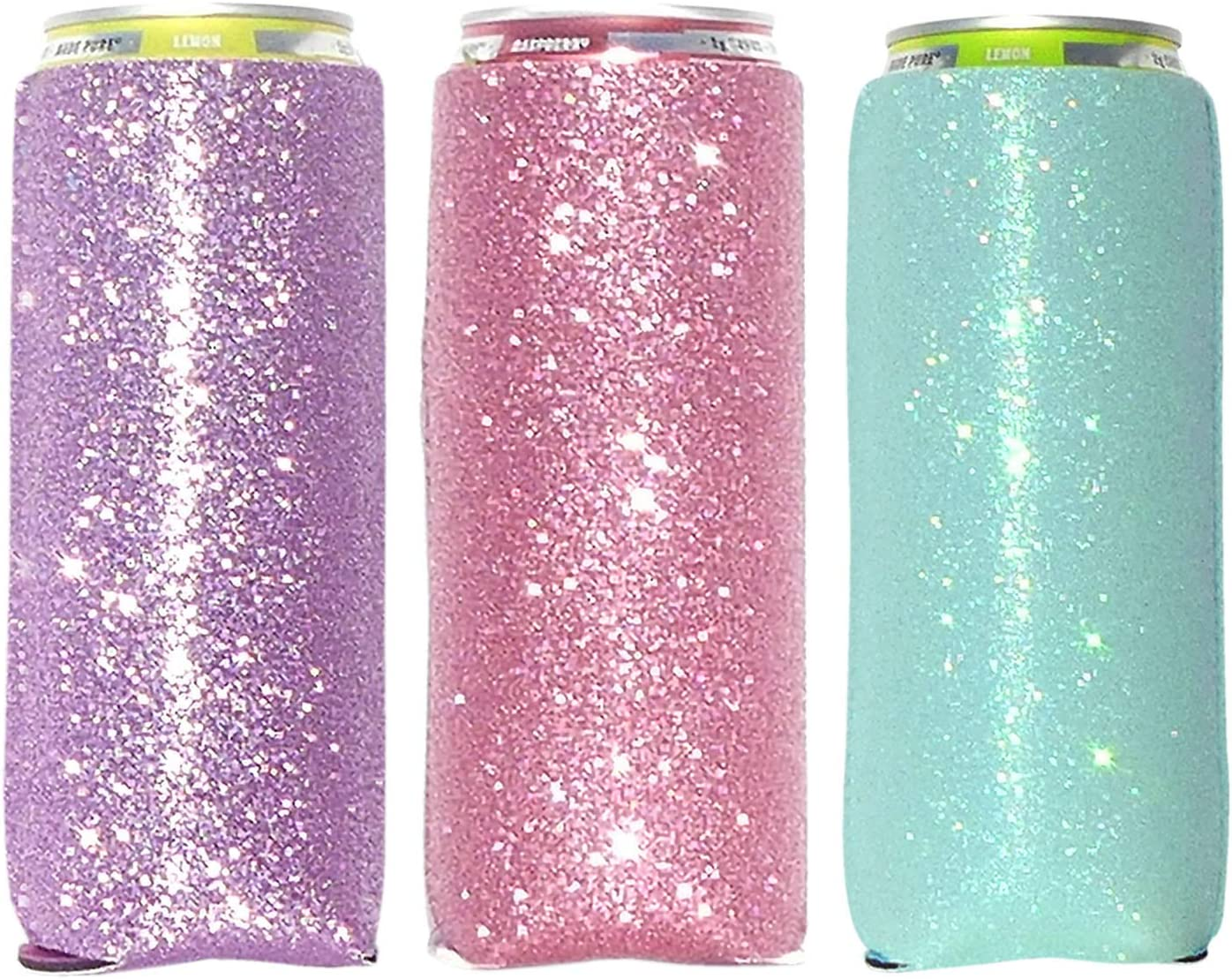 3 Pack- 35% OFF 12 oz Slim Glitter Skinny Can New products world's highest quality popular Cooler Hold Insulated