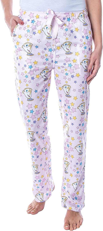 Disney Princess Women's Beauty and The Beast Chip Potts Smooth Touch Sleep Bottoms Lounge Pajama Pants