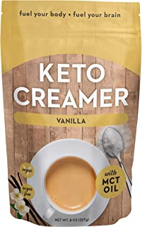 360 Nutrition Keto Creamer with MCT Oil | Vanilla | Dairy Free Coffee Creamer Milk Substitute | Weight Loss, Energy, Fat L...