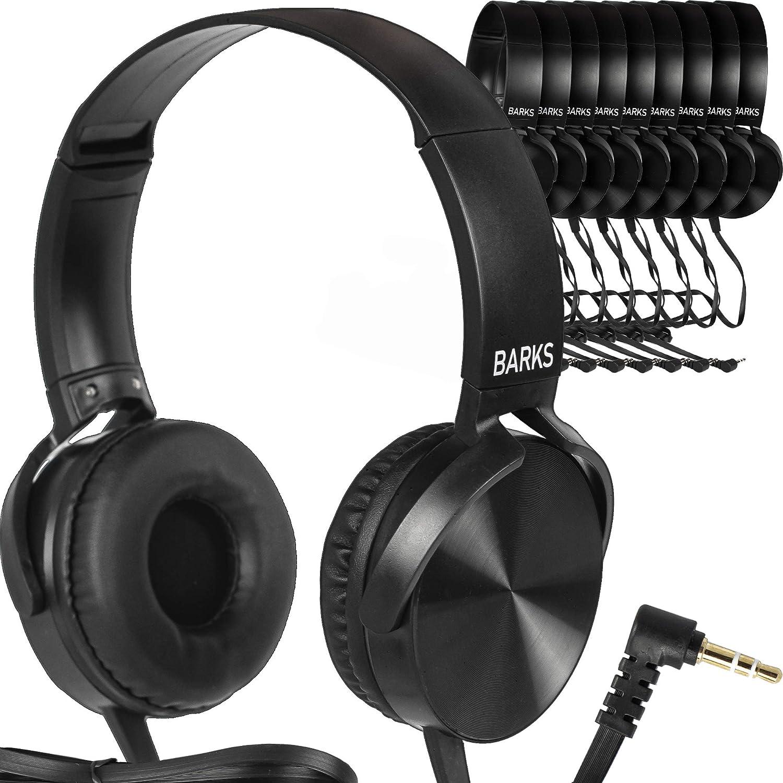 1. Barks 10-Pack Bulk Classroom Headphones