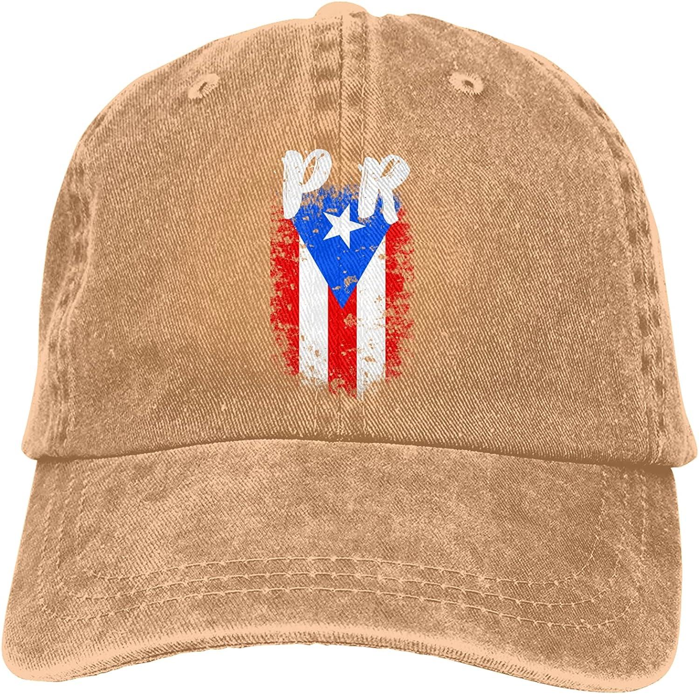 Puerto Rico Pr Flag Unisex Adjustable Cotton Baseball Hat Cowboy Cap Dad Hats Denim Trucker Hat