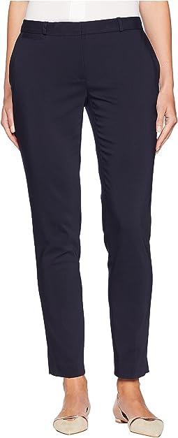 Compression Cotton Slim Ankle Pants