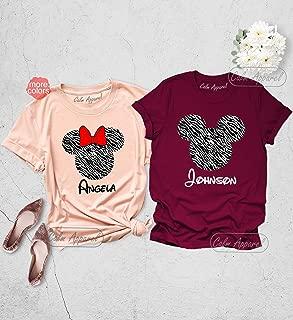 Animal Kingdom Shirt, Zebra Print Minnie Shirts, Couple Matching Tee, Mickey Ears T-Shirt, Family Safari Trip Tank Top