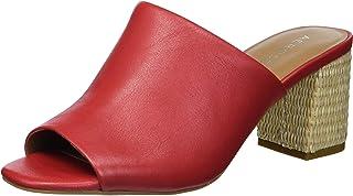 صندل Erie بكعب للنساء من Aerosoles مصنوع من الجلد الأحمر مقاس 6.5 عرض