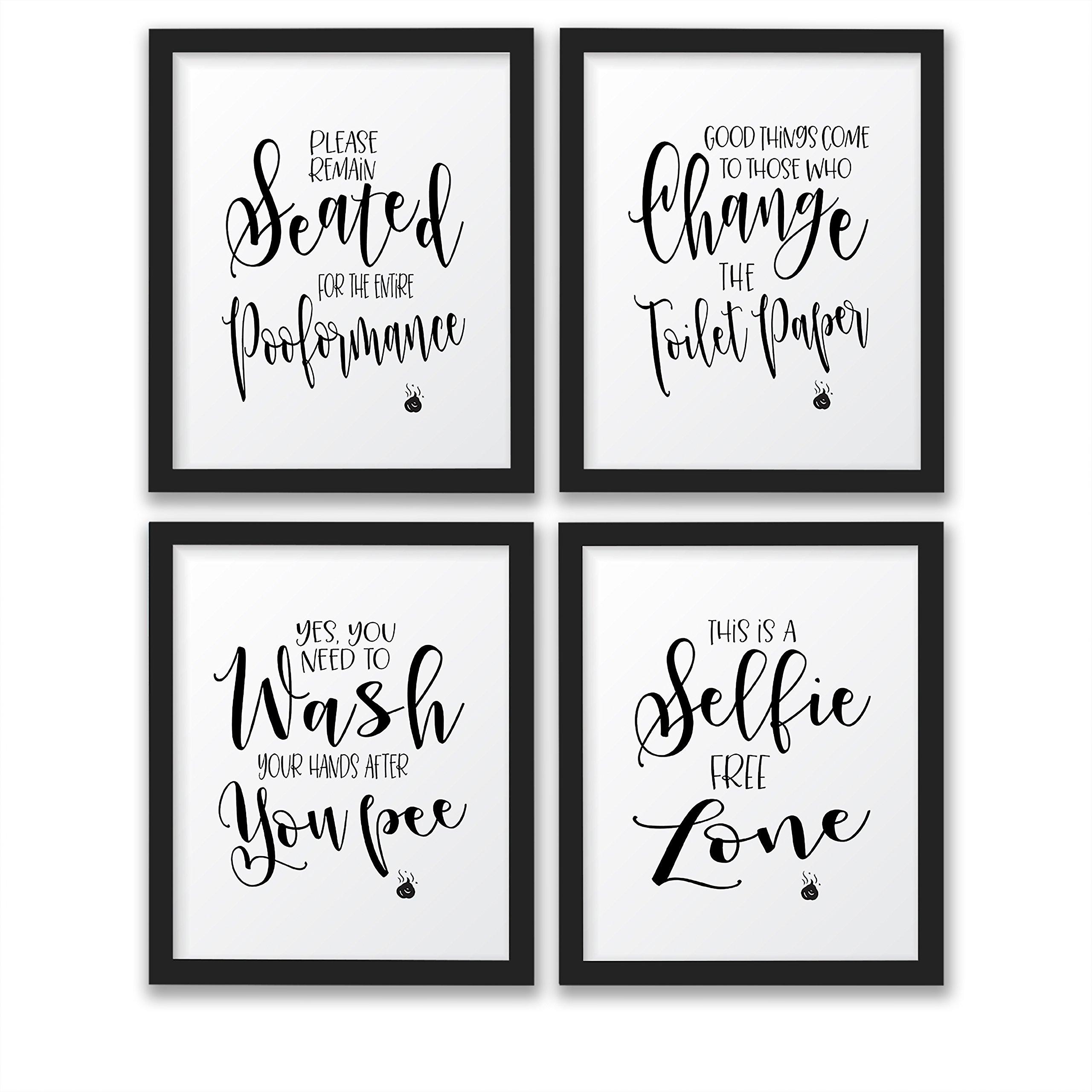 The John Funny Bathroom Wall Decor Signs/Quotes Set, Art Prints