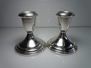Empire Sterling Candle Holders Set of 2 3 1/4