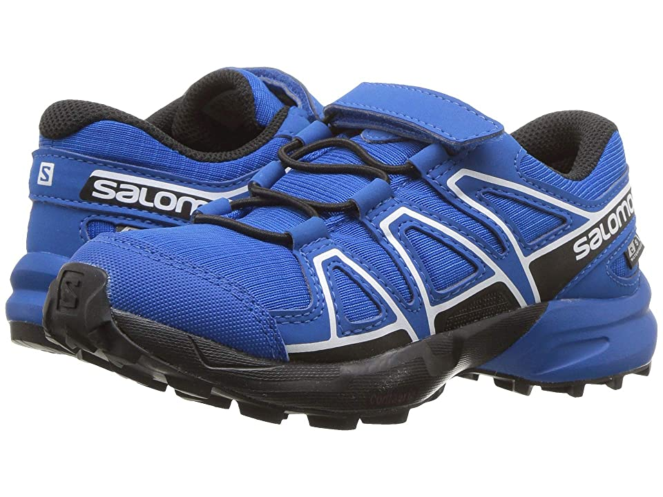 Salomon Kids Speedcross CSWP (Toddler/Little Kid) (Indigo Bunting/Sky Diver/White) Boys Shoes