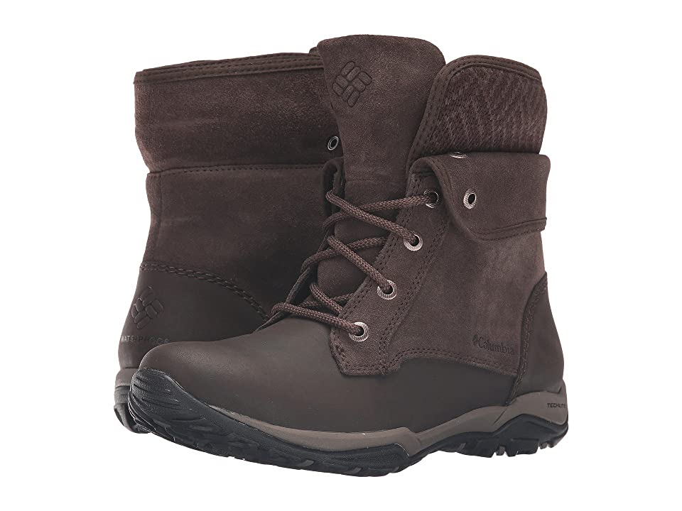 Columbia Cityside Fold Waterproof (Cordovan/Mud) Women
