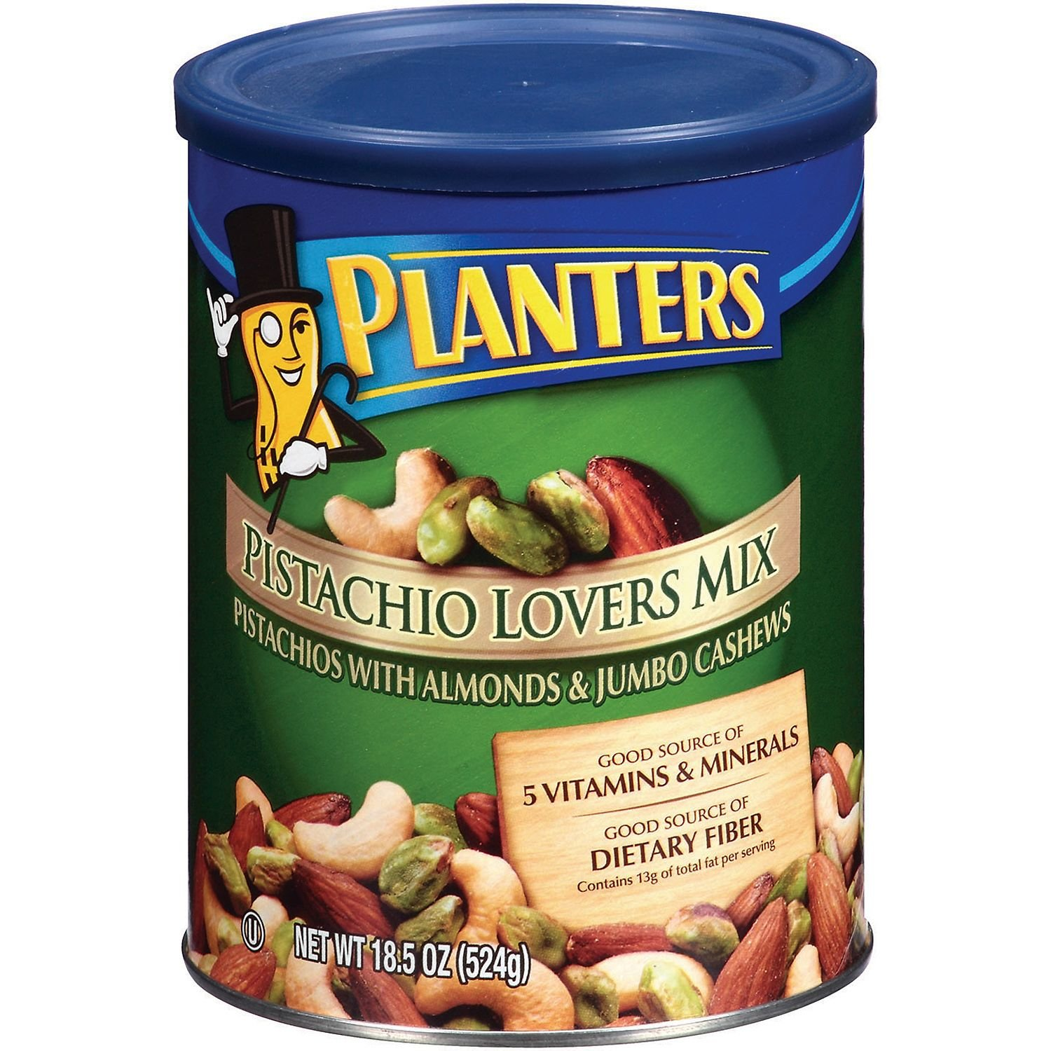Planters Max 65% OFF 40% OFF Cheap Sale Pistachio Lovers Mix Salted 18.5 Ounce 4 Tubs