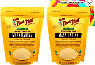 Bob's Red Mill Organic Masa Harina Flour Bundle. Includes Two (2) 24oz Packages of Bob's Red Mill Organic Masa Harina Flou...