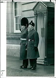 Vintage photo of Royal Irish Rangers in Buckingham Palace