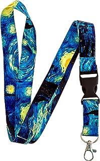 Lanyard- Lanyard for Keys - Lanyard Keychain-Van Gogh Starry Night Premium Breakaway Lanyard