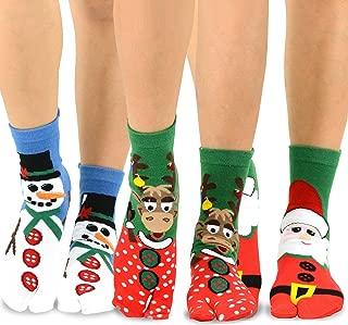 TeeHee Flip Flop Big Toe Cotton Socks 3-Pairs Pack