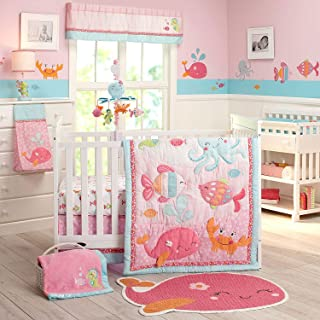 Carter's Sea Collection 4 Piece Crib Set, Pink/Blue/Turquoise