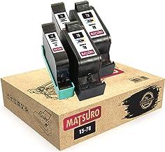 Matsuro Original   Compatible Remanufactured Cartuchos de Tinta Reemplazo para HP 15 78 (2 Sets)