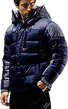 Fuerza Mens Winter Down Wellon Hooded Heavy Duty Parka Jacket