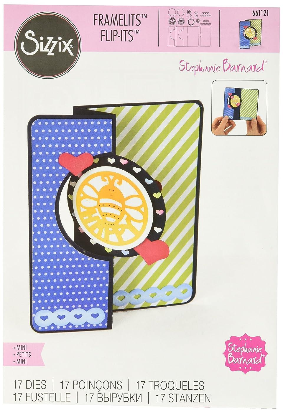 Sizzix Framelits Die Set, Card, Mini Circle Flip-its by Stephanie Barnard, 17-Pack