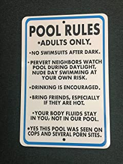 e942c3f7381cd Amazon.com: funny pool signs - Yard Signs / Outdoor Décor: Patio ...