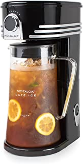Nostalgia CI3BK Iced Coffee Maker and Tea Brewing System, Glass Pitcher, 3 quart, Black