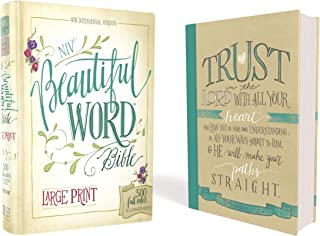 NIV, Beautiful Word Bible, Large Print, Hardcover: 500 Full-Color Illustrated Verses