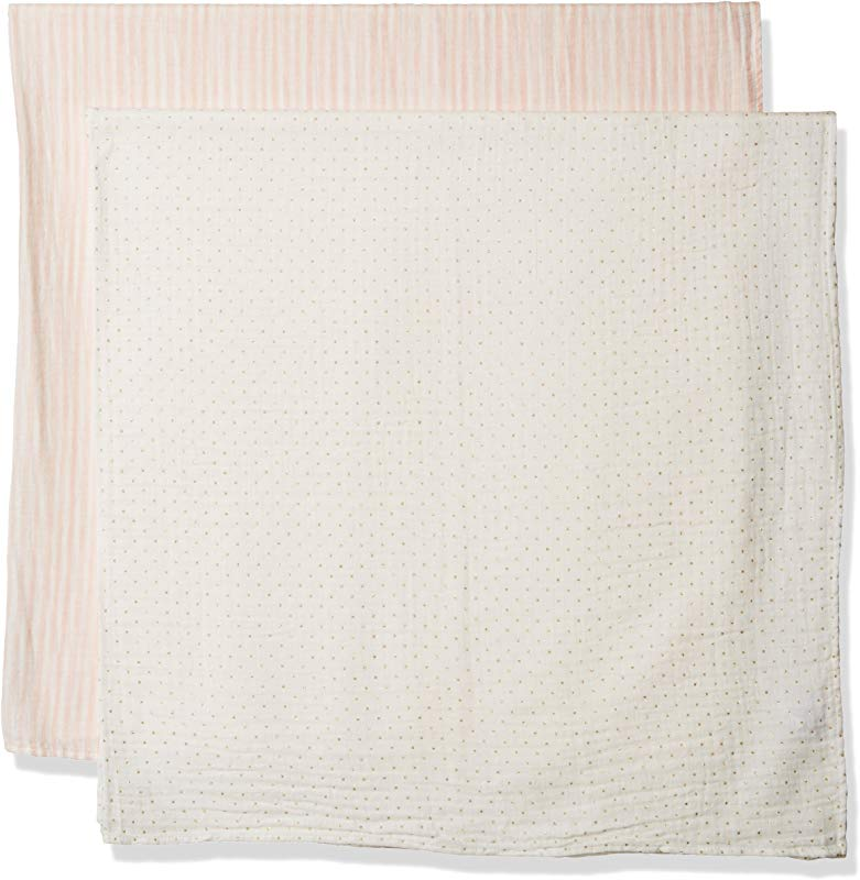 Mud Pie Baby Girls Swaddle Set
