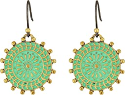 Lucky Brand Patina Drop Earrings