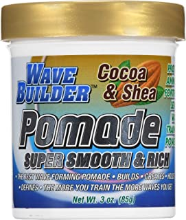 WaveBuilder Cocoa & Shea Pomade | Super Smooth & Rich Formula Promotes Healthy Hair Waves, 3 Oz