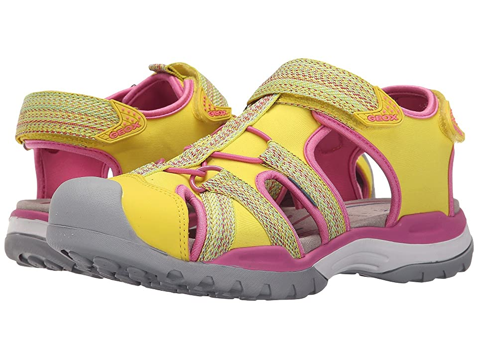 Geox Kids Jr Borealis Girl 2 (Big Kid) (Yellow) Girls Shoes