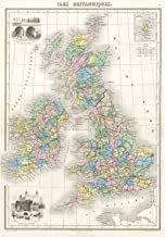 The Art Stop MAP 1878 MIGEON British Isles England Ireland Scotland Print F12X2043