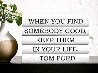 Tom Ford Quote Books, Designer Quote, Quote Books, Decorative Books, Black Books, Anniversary Gift, Wedding Centerpiece, Bookworm, Gift for Friend, Book Decor, Book Lover