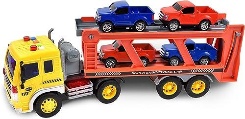 echa un vistazo a los más baratos Maxx Maxx Maxx acción realista juguete vehículo transporte a larga distancia de juguete con luces y sonido  liquidación hasta el 70%
