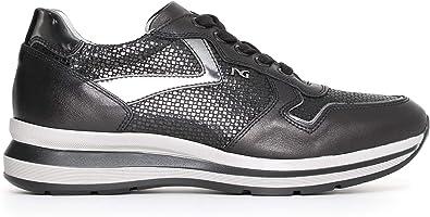 Nero Giardini A719493D Sneakers Donna in Pelle E Tela