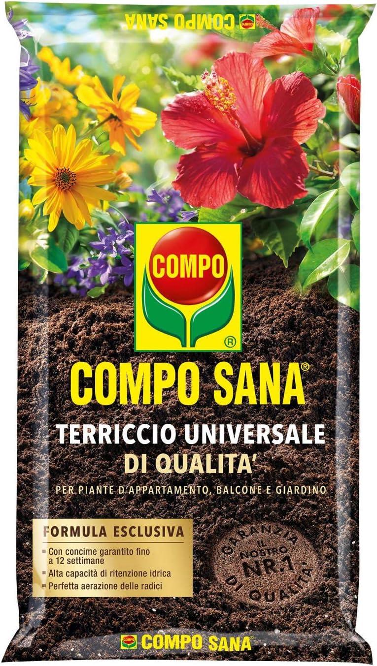 COMPO Sana - Sustrato universal de calidad para plantas de interior, balcón y jardín, 5 litros