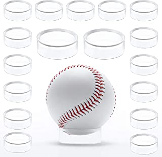 WYN-MART Clear Baseball Stand Holder Rings (30 Pack) Round Acrylic Plastic Display 1.22 inches