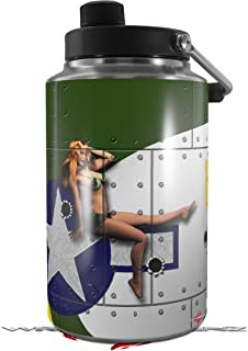 Skin Decal Wrap for Yeti 1 Gallon Jug WWII Bomber War Plane Pin Up Girl - JUG NOT INCLUDED by WraptorSkinz