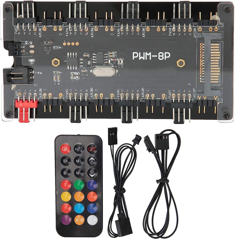 Controll System Case Fan Hub PWM+ARGB Con in Wireless Long Beach Mall 2 New Shipping Free Shipping Remote 1