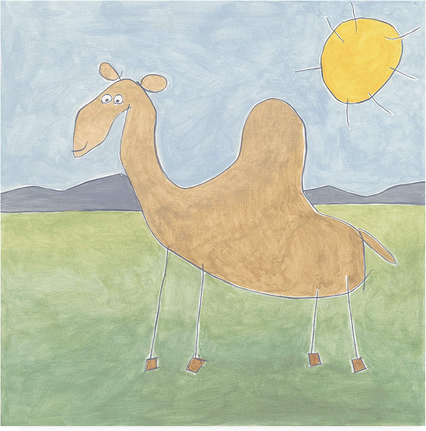 Trademark Fine Art WAG16248-C1414GG Quinns Camel by Megan Meagher, 14x14