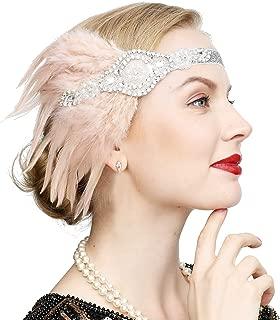 Vintage Black Feather Silver 20s Bridal headpiece 1920s Flapper Great Gatsby Headband