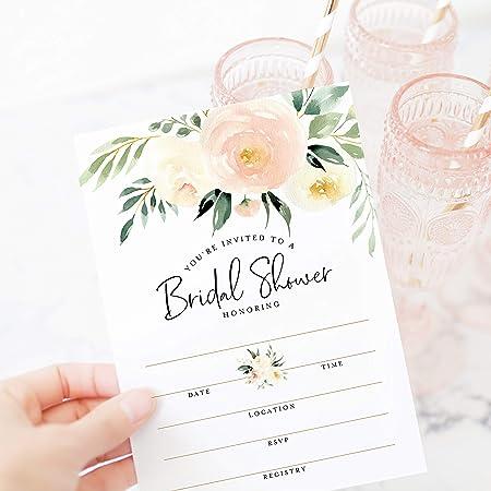 Watercolor Jewels Bridal Shower Invites  Bright Blue Pink Coral Diamonds  Semi-Custom Engagement Party Invites  Printed Invitations